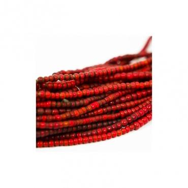 collier ancien népal perles de verre