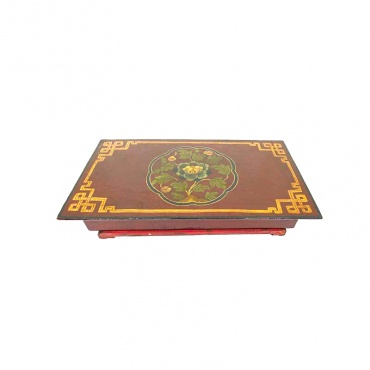 autel table bouddhiste tibet en bois et pliable