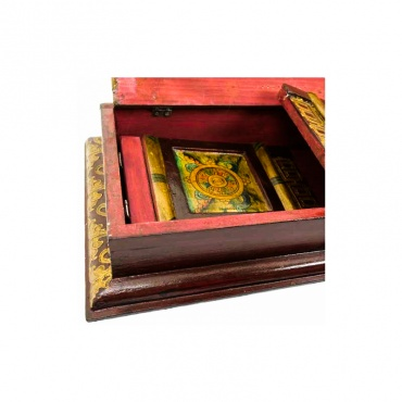 autel table tibet pliable dharma lotus
