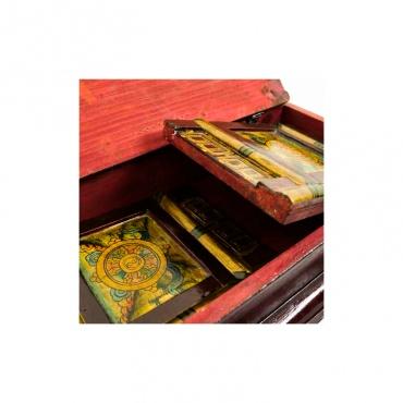 table tibétaine pliable pour pratique bouddhiste
