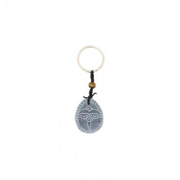 porte clés original en pierre himalayenne