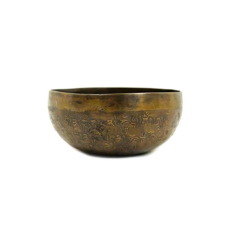 bol chantant tibétain 7 métaux gravé mani mantra