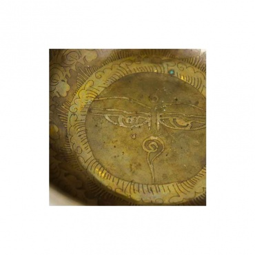 bol chantant 7 métaux yeux bouddha et mantra
