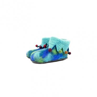pantoufles chaussons en laine pour enfants
