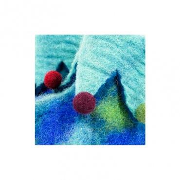 pantoufles chaussons en laine bleu pour enfant