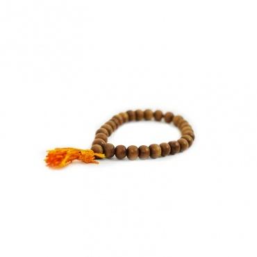 bracelet mala 27 perles bois de santal