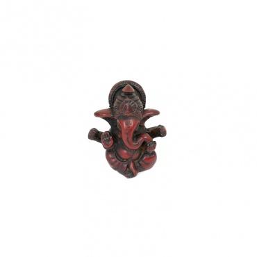 statue petite ganesh bébé éléphant rouge acajou