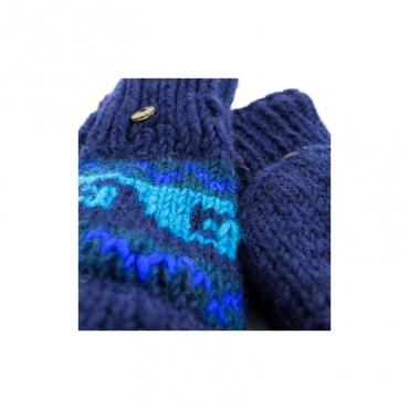 mitaines gants moufles en laine doublés de laine polaire et capuche qui se rabat
