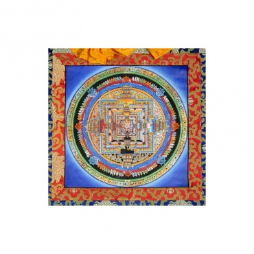 peinture tibétaine bouddhiste sur toile du kalachakra