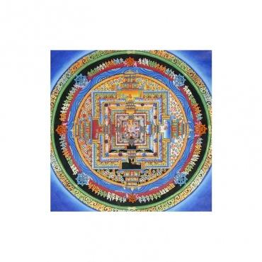 peinture traditionnelle bouddhiste palais des divinités tangka