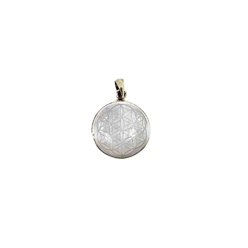 graine de vie fleur de vie pendentif en cristal de roche