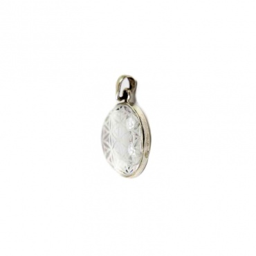 pendentif fleur de vie graine de vie cristal himalayen