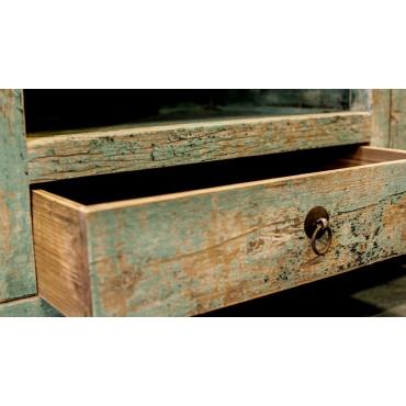 tiroir de mobilier salon télévision rustique chinois bleu