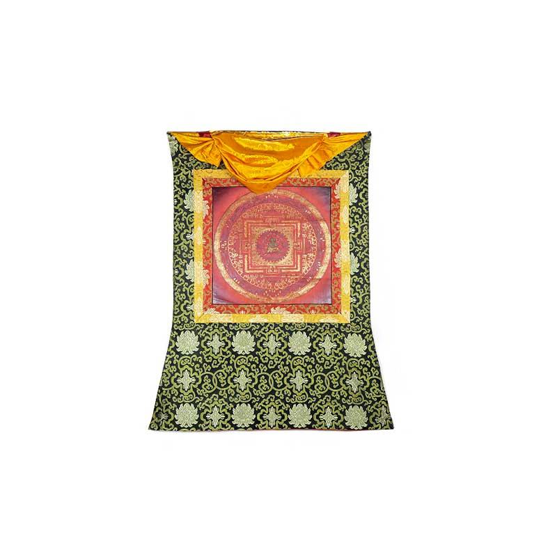 peinture bouddhiste mandala tara verte