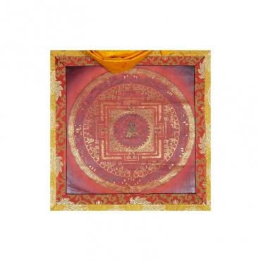 peinture tangka mandala tara verte bouddhiste tibétain