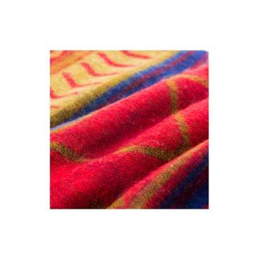 châle écharpe couverture douce et chaude rouge bleu beige