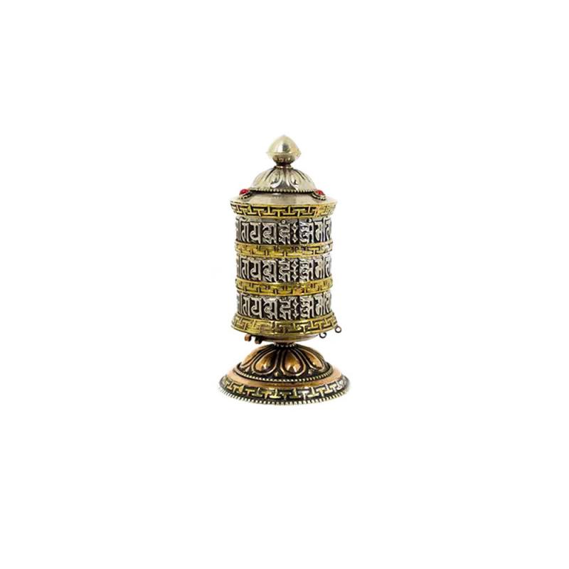 moulin à prières de table bouddhiste tibétain