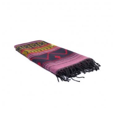écharpe châle couverture méditation rose rouge beige noir