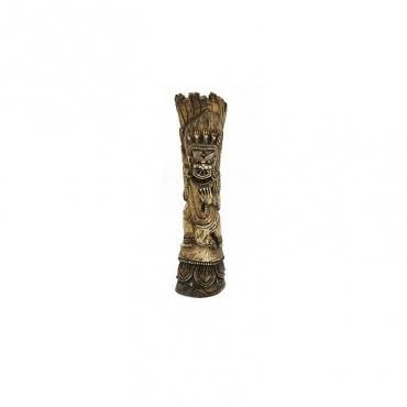 statue totem de Mahakala en os Artisanat Népal