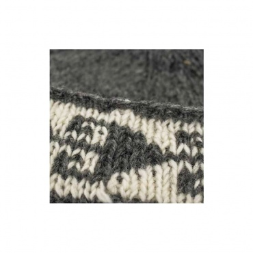 motif bonnet laine naturelle tricotée main Népal Ethique