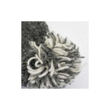 pompon bonnet laine naturelle tricot main éthique