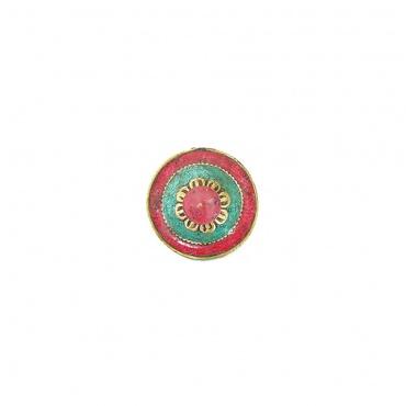 dessus de moulin à prières tibétain om mani padmé hum