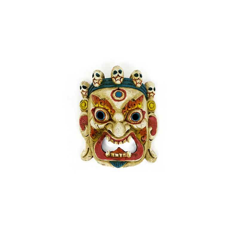 masque mahakala blanc bouddhiste