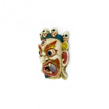 masque blanc mahakala divinité bouddhiste