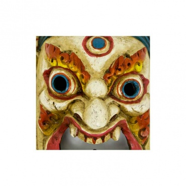 masque effrayant bouddhiste tibétain mahakala