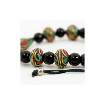 bracelet taille extensible tourmaline