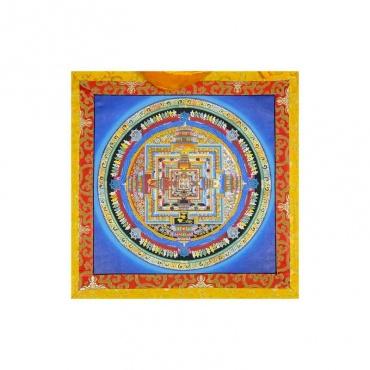 peinture bouddhiste mandala de la vie bouddhiste tibétain