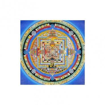 peinture bouddhiste support de méditation mandala