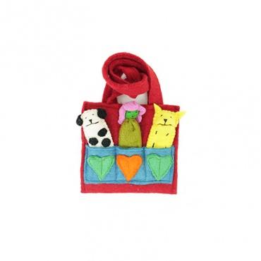 sac enfant marionnettes pour développer la créativité
