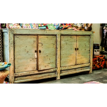 buffet armoire commode chinois bleu gris