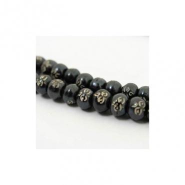 mala collier 108 perles en bois oeil de bouddha