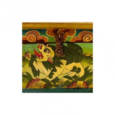 boîte tibétaine lion des neiges