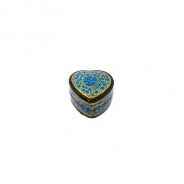 petite boîte à bijoux cœur bleu