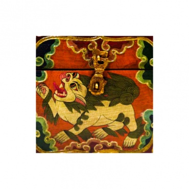 coffret tibétain lion des neiges