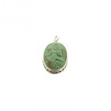 médaillon bouddhiste tara verte turquoise