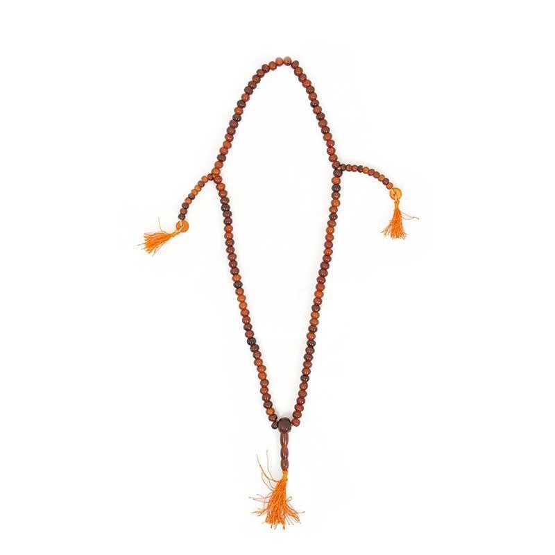 chapelet bouddhiste mala couleur ambre