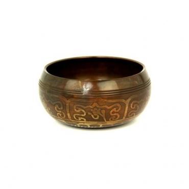 Bol chantant tibétain 5 métaux et vajra