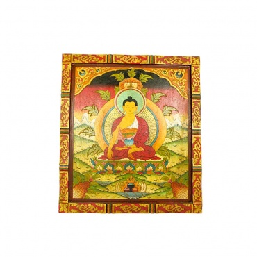 tableau bouddha shakiamuni peinture bouddhiste unique