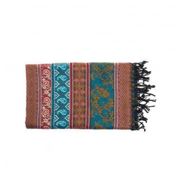 châle écharpe couverture douce et colorée Népal