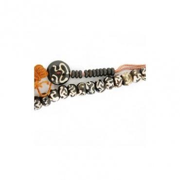 chapelet mala rosaire bouddhiste 108 perles OM et compteurs