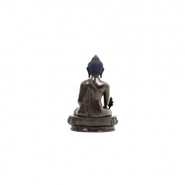 statue bouddha médecine en cuivre foncé