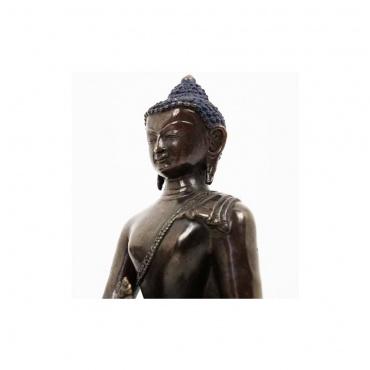 statue bouddha médecine en cuivre foncé à remplir