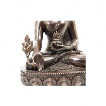 détail statue bouddhiste bouddha médecine Sanjye Menla