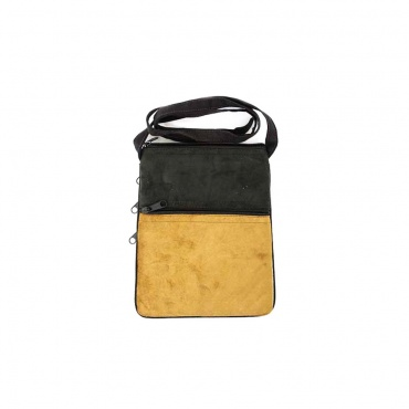 petit sac voyage multipoche imitation cuir broderie Népal