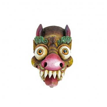 grand masque de dragon tibétain