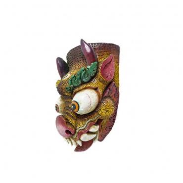 profil grand masque dragon tibétain